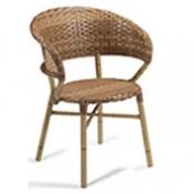 silln mod tripol silln de aluminio decorado bamb con asiento y respaldo trenzado mdula crema cuero