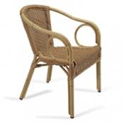 silln mod aspen silln de aluminio decorado bamb con asiento y respaldo trenzado mdula tostado