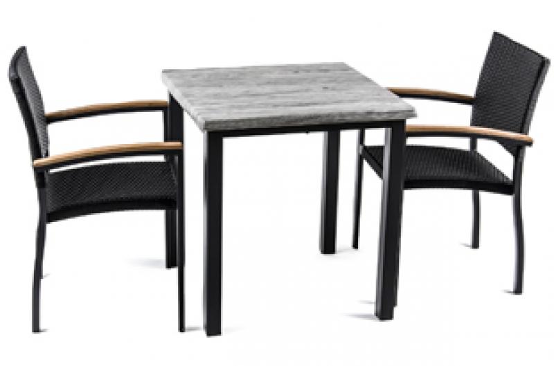 La ergonom a en sillas y mesas para hosteler a feyma for Mesa de terraza con quitasol
